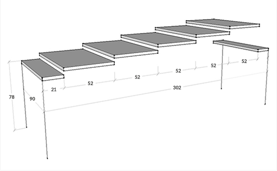Dimensioni consolle Arlecchino