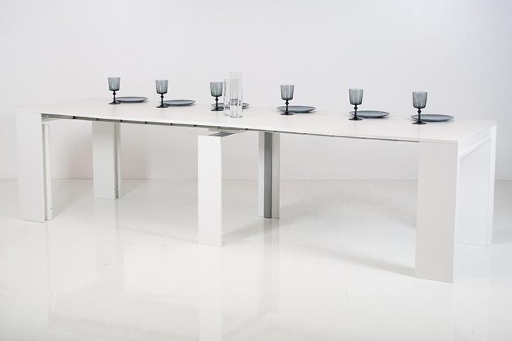 Tavolo consolle allungabile moderna aurora soggiorno sala - Tavolo 14 posti ...