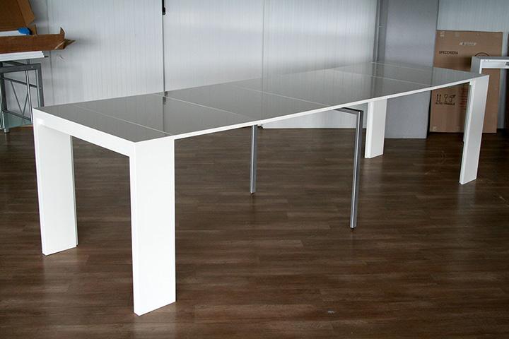 Tavolo consolle moderna allungabile 3 metri new net l 110 - Tavolo 14 posti ...