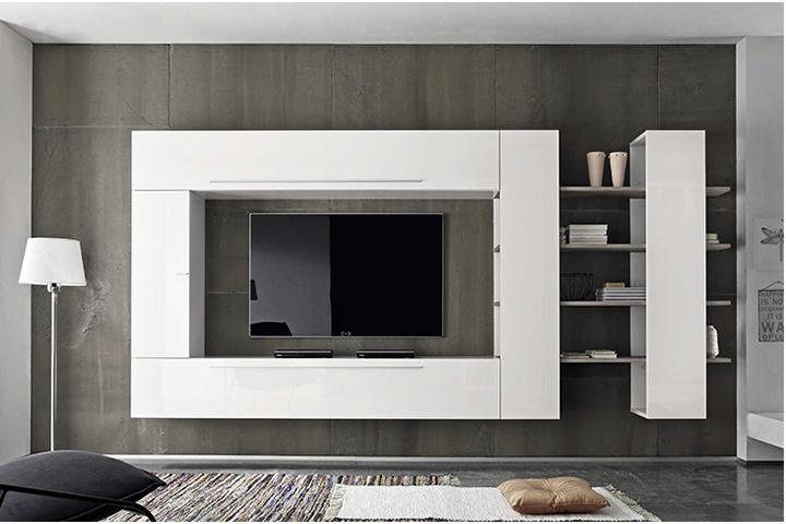 Pronto letto in legno usati for Parete da soggiorno moderna