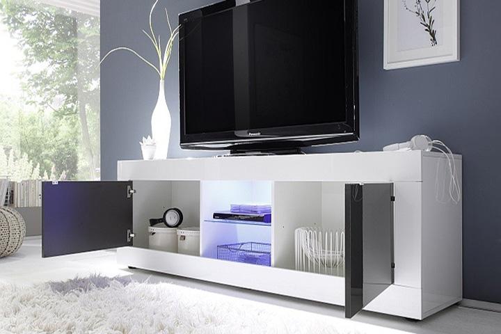 Mobile base porta tv moderno Basic grande 181 sala soggiorno salotto 2 ante  eBay